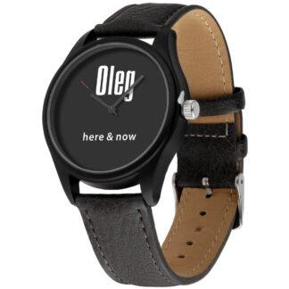 Именные наручные часы 01 черный