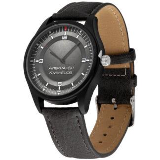 Именные наручные часы 023 черный