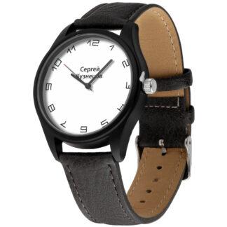 Именные наручные часы 23 черный