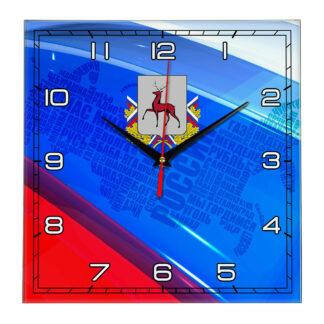 Часы с флагом РФ и гербом города Нижний Новгород 02