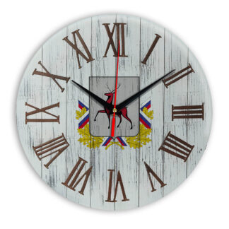 Печать под стеклом- Деревянные настенные часы Нижний Новгород 07