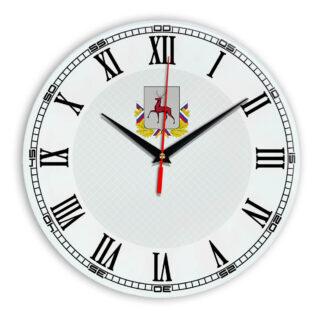 Стеклянные настенные часы с логотипом Нижний Новгород 09