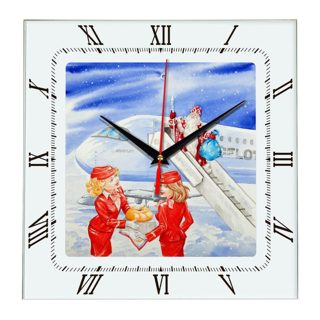 настенные часы с логотипом Аэрофлот, новогодние подарки