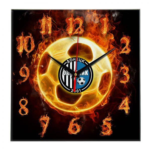 Настенные часы «Огненный футболист Olimpik doneck»