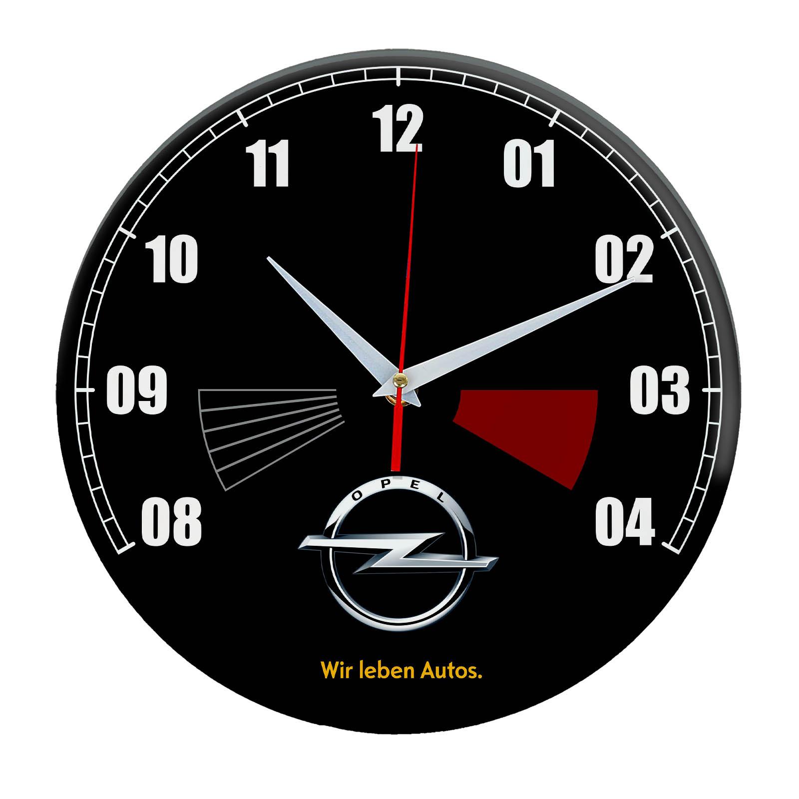 Настенные часы «opel чёрные»