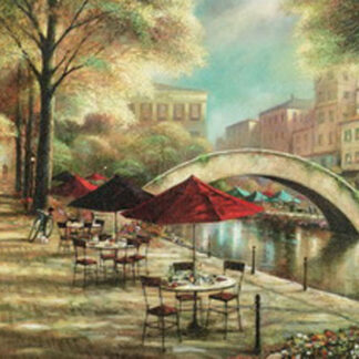 Картина на стекле «Кафе на набережной»