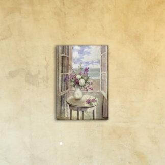 Печать картины на стекле «Цветы и бриз»