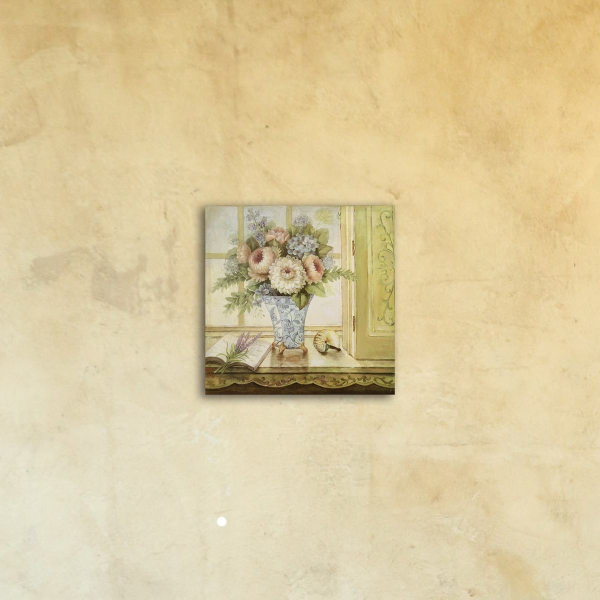 Картина на стену под стеклом «Натюрморт с ракушкой»