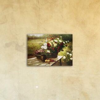 Картина на стекле «Летний букет»