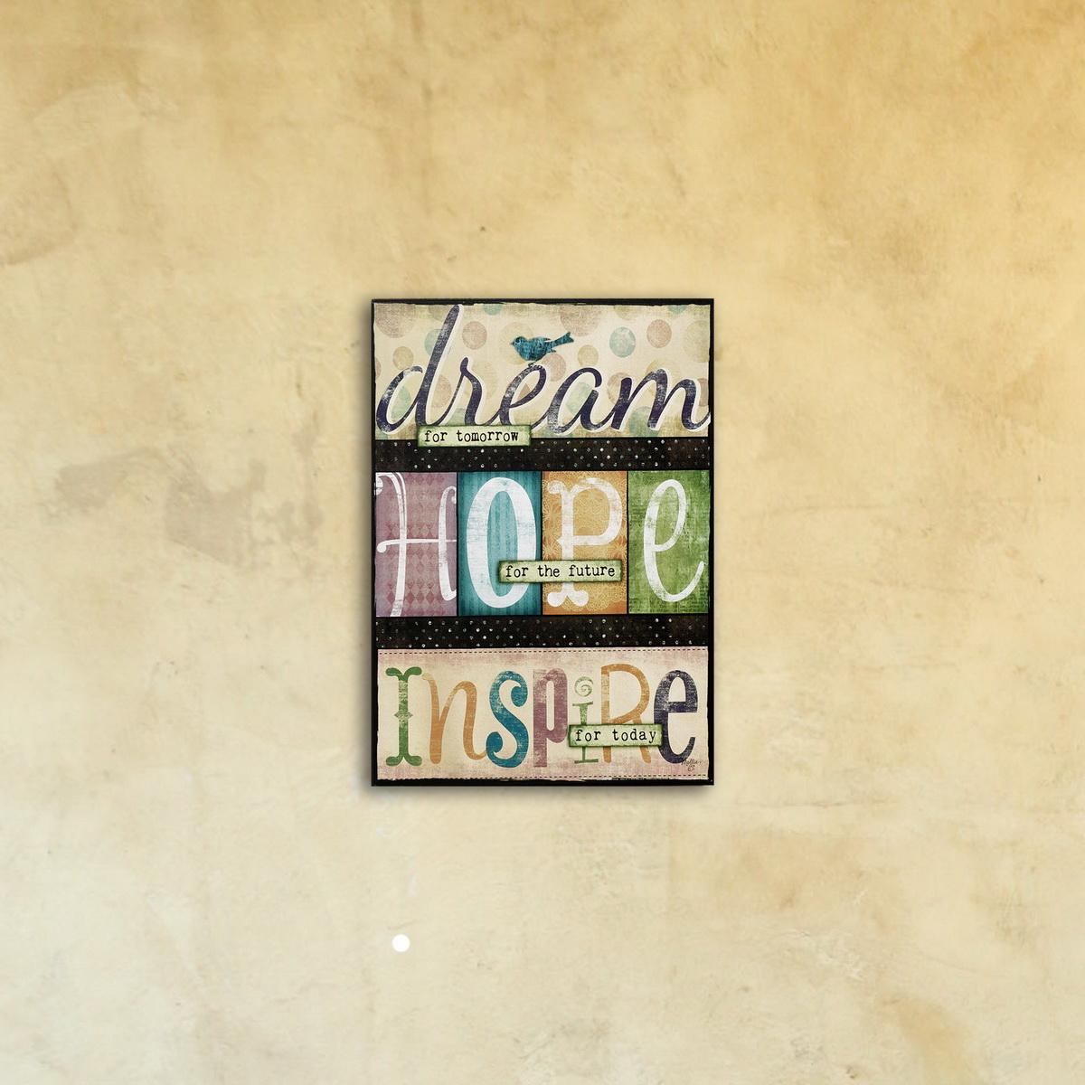 Постер на стекле «Dream Hope Inspire»