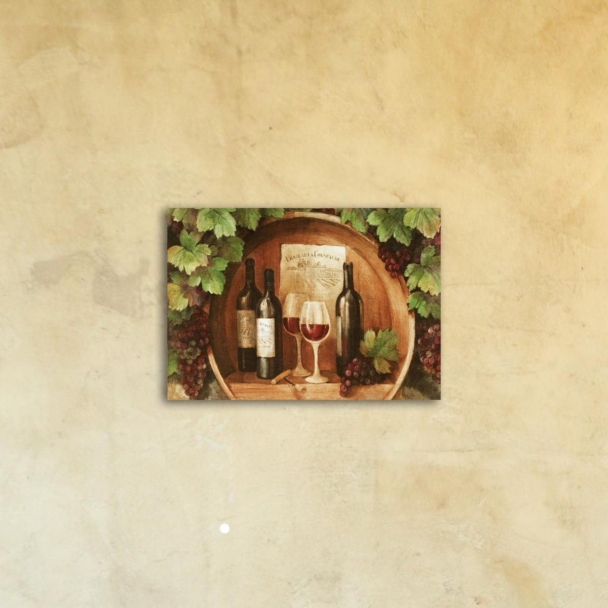 Картина на стекле «Дегустация»