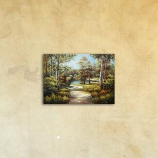Картина на стекле «Лето в лесу»
