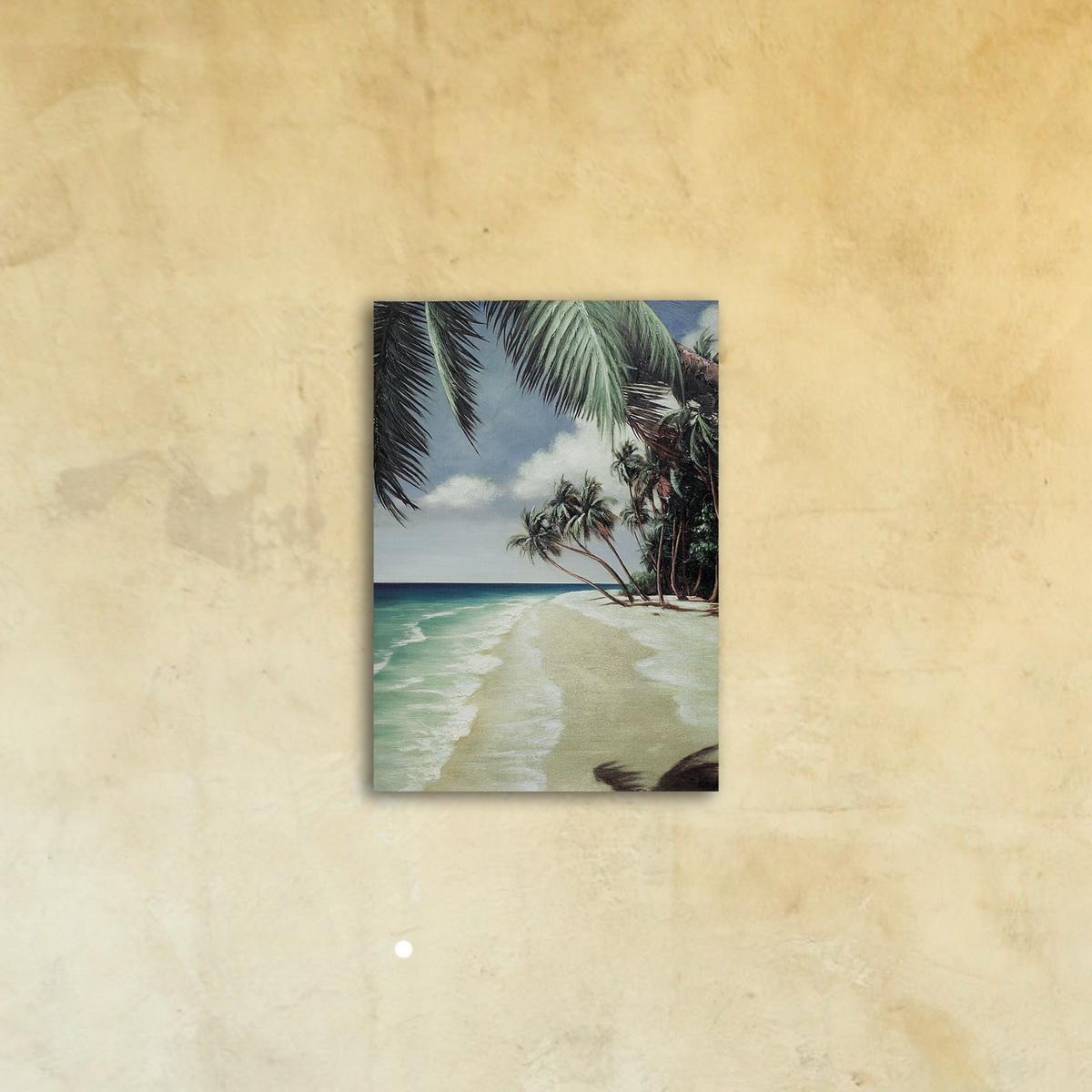 Репродукция на стекле «Тропический прибой»