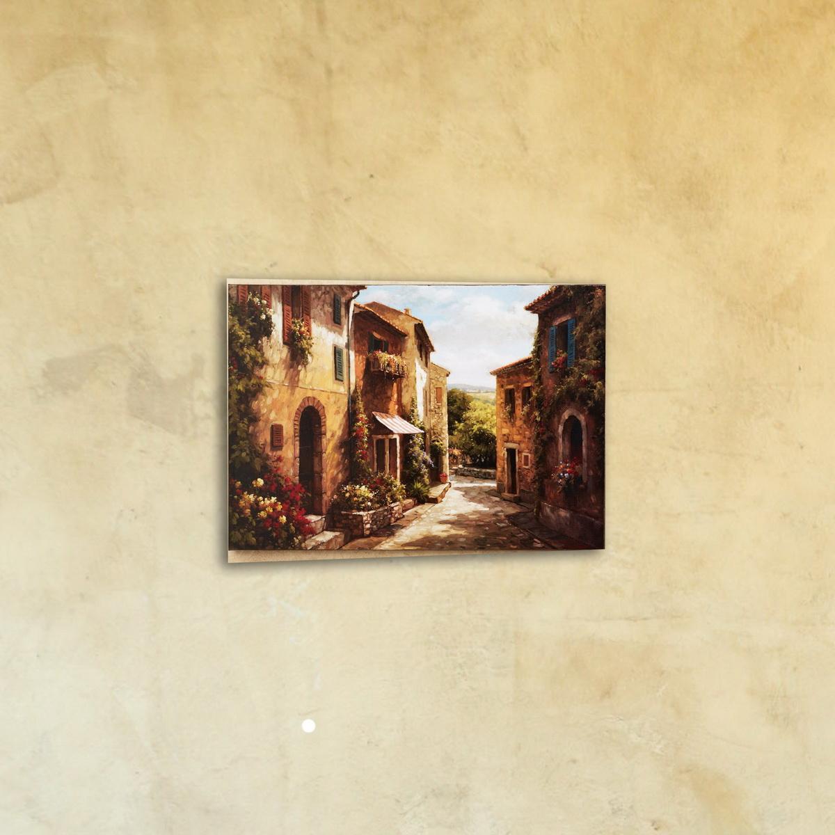 Картина на стекле «Старые улочки»