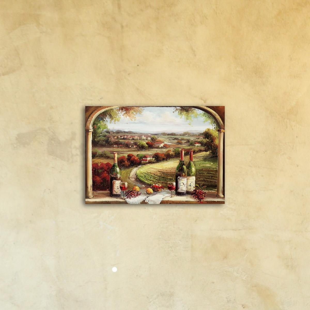 Картина на холсте под стеклом «Прованс Балкон»