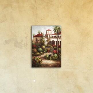 Картина на стекле «Загородный дом в Италии»