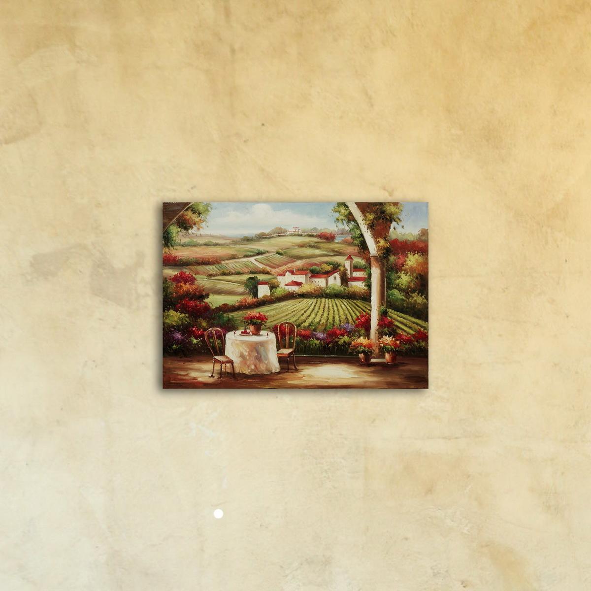Картина на стекле «Романтика прованса»