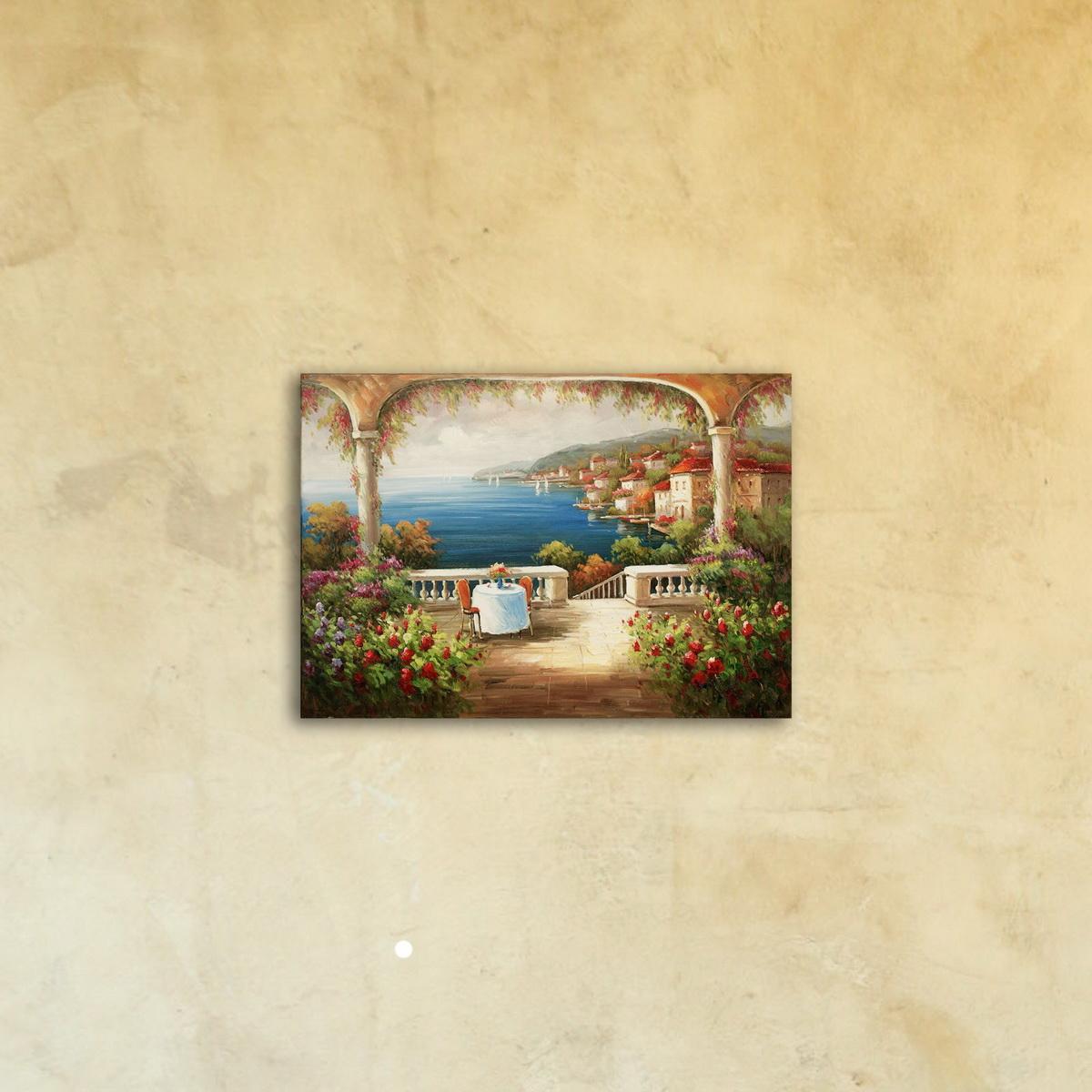 Картина для Интерьера «Вид на море» стекло