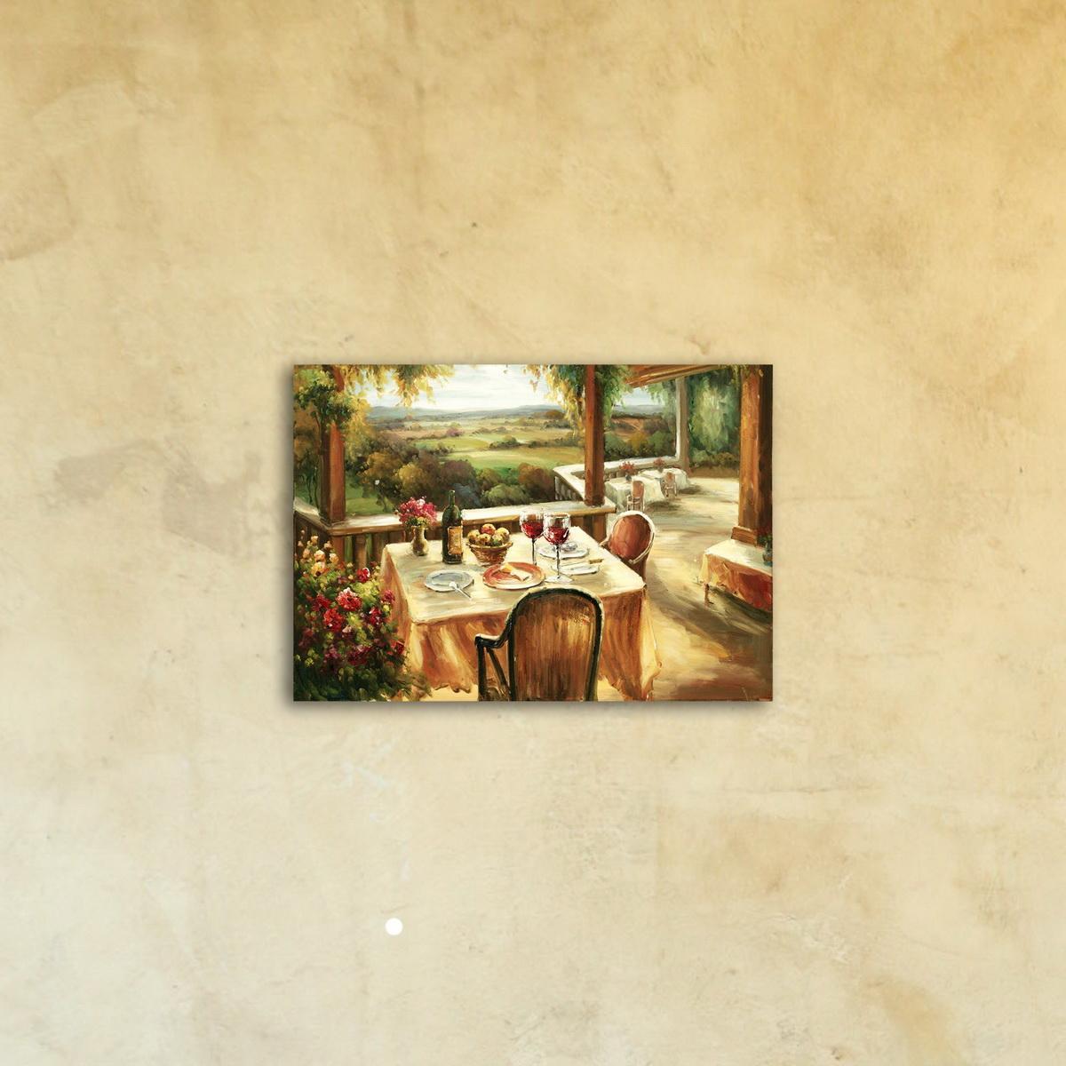 Картина на стекле «Романтический ужин»