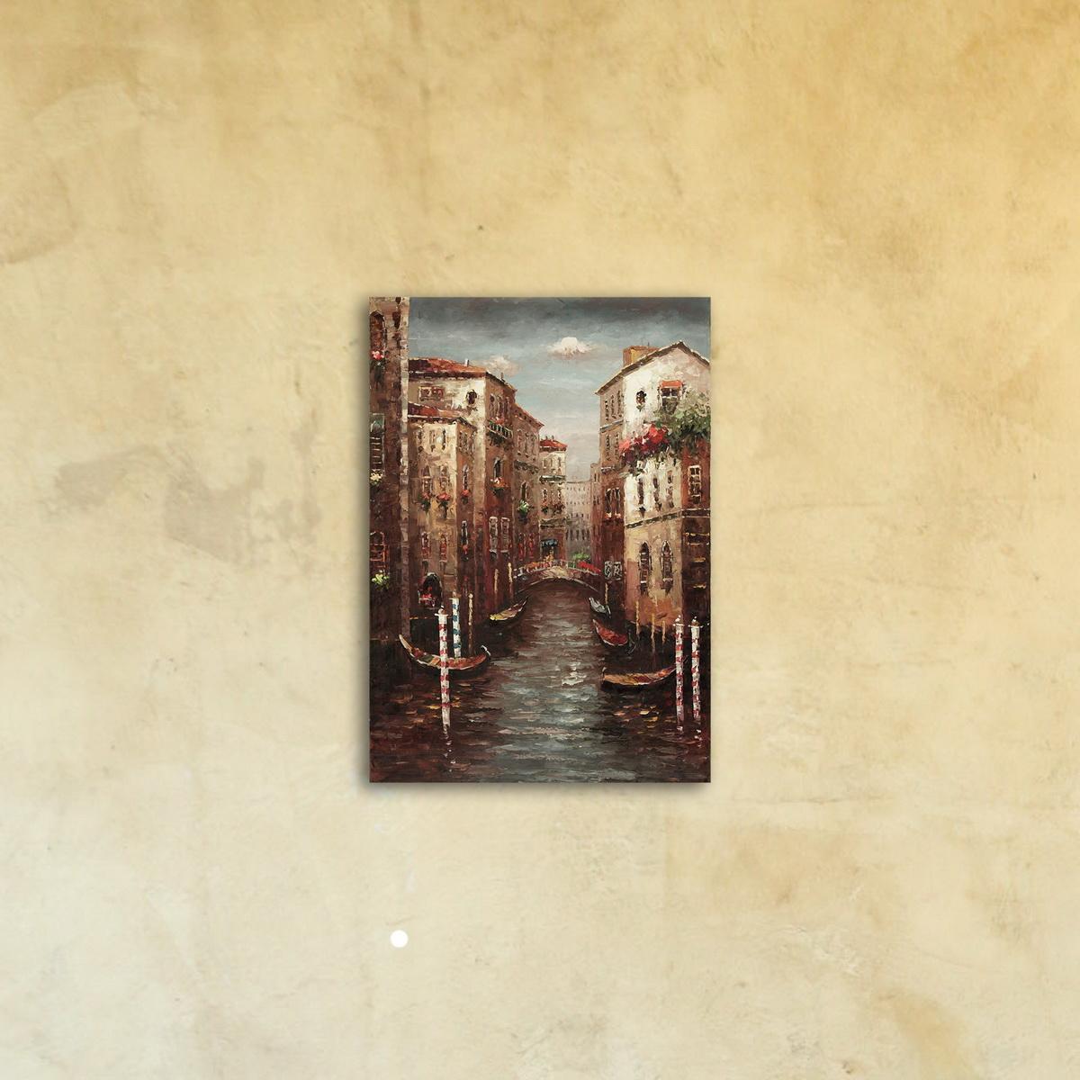 Картина на стекле «Канал Венеции»
