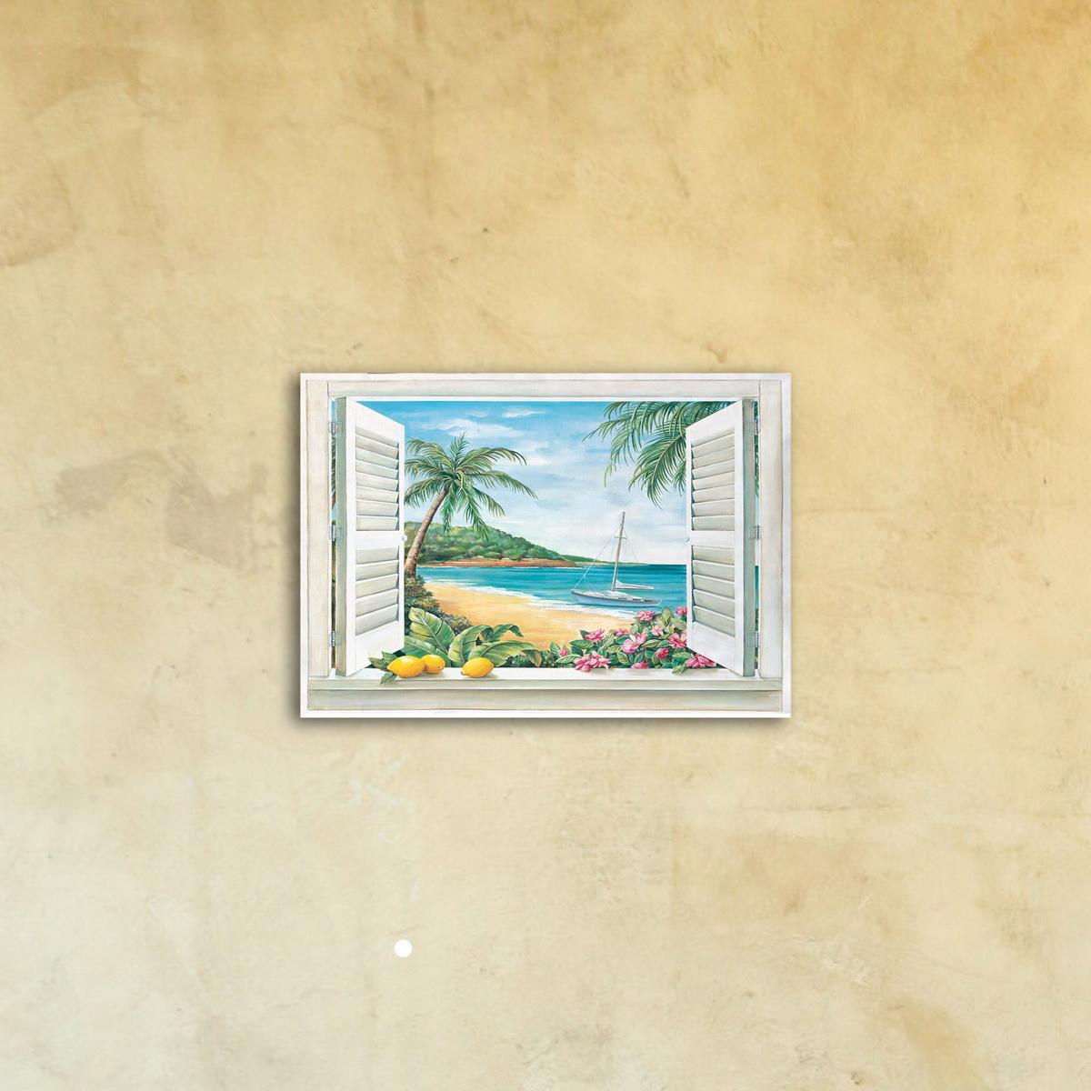 Картина на стекле «Вид из окна»