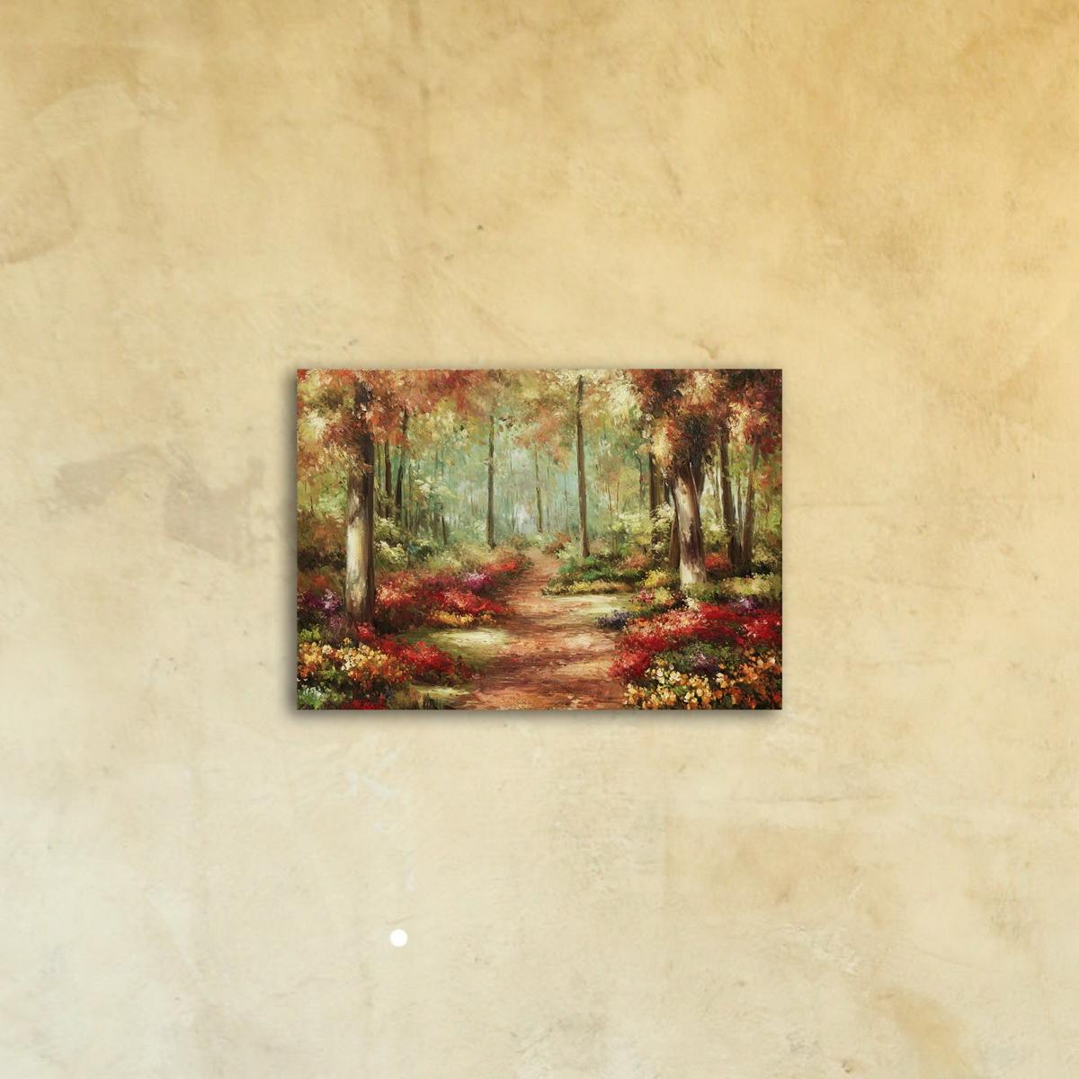 Картина на стекле «Осенний лес»