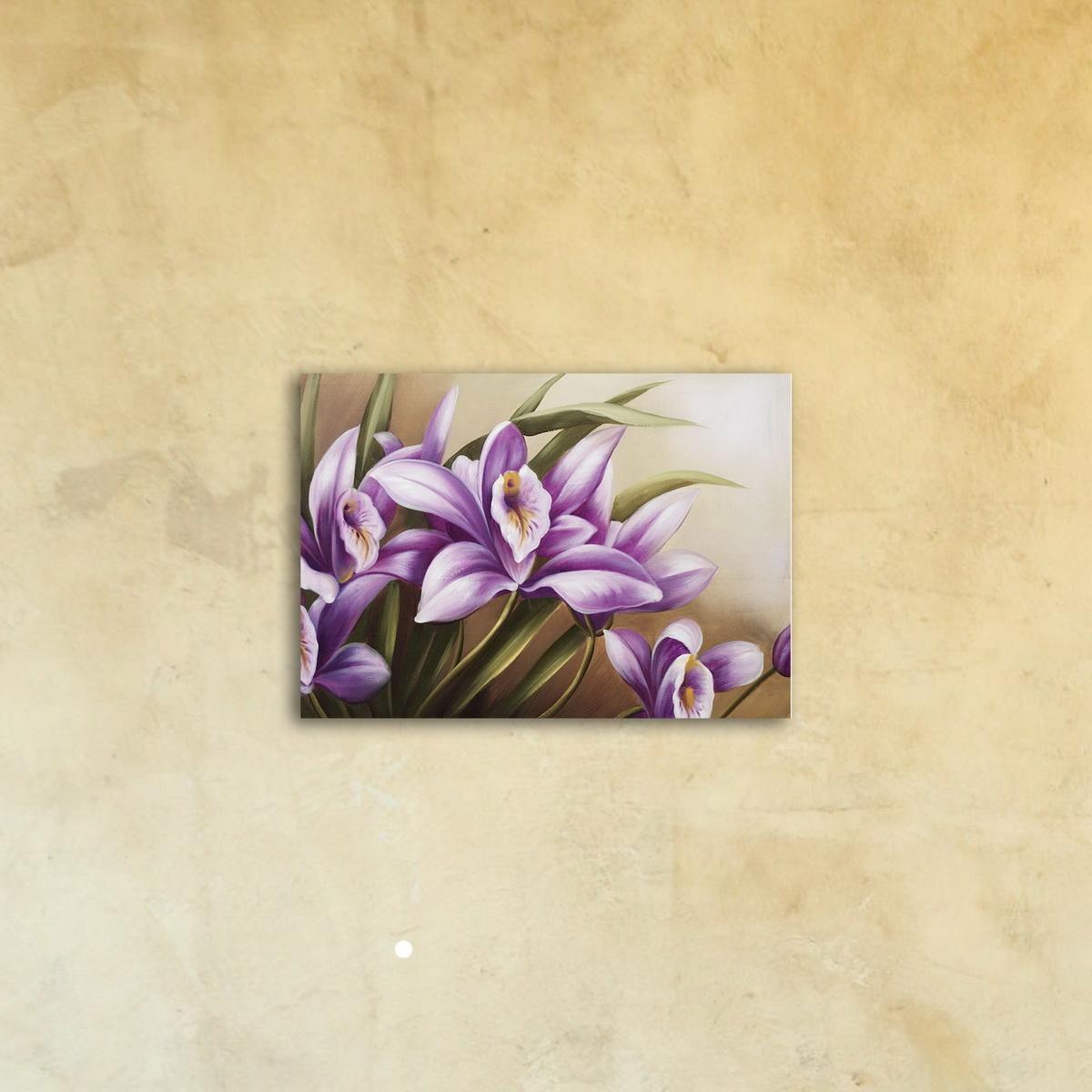 Картина на стекле «Лиловое счастье»