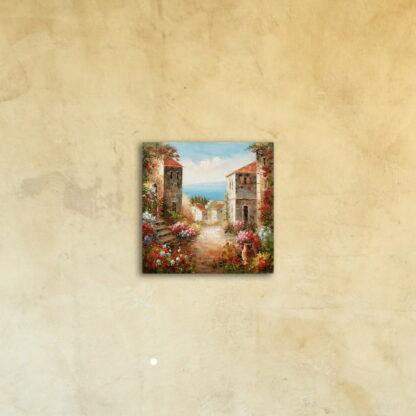 Картина на стекле «Цветущий город»