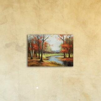 Картина на стекле «Осень пришла»