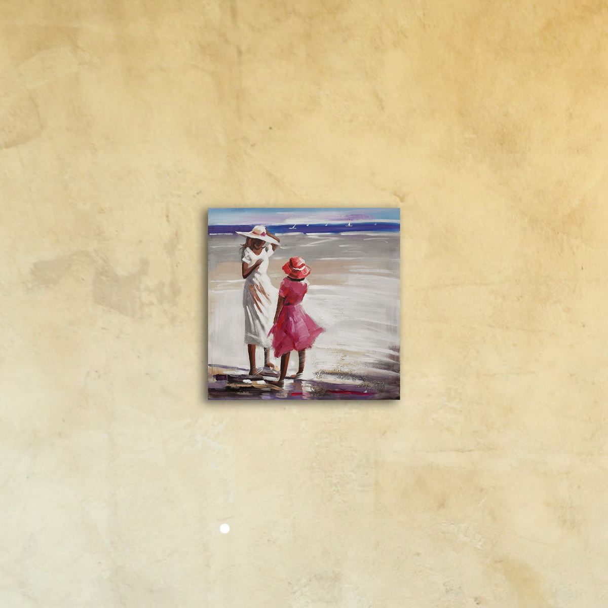 Картина на стекле «Мама и дочь»