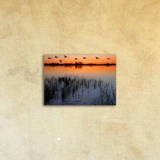 Картина на стекле «Закат над рекой»