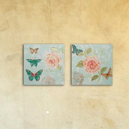Картина на стекле модульная «Нежность»
