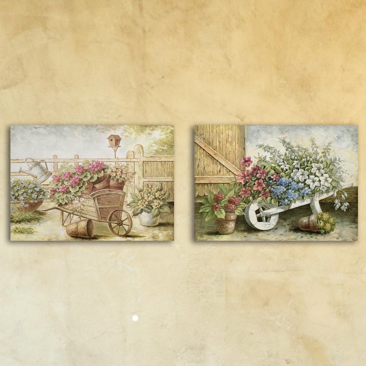 Модульная картина «Винтажный сад»