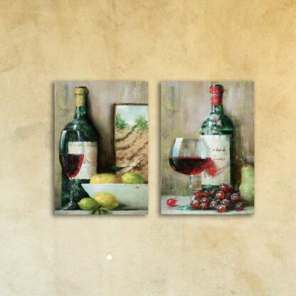 Картина из двух модулей «Вино к обеду»