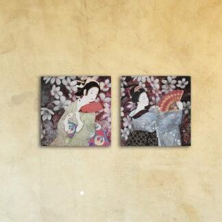 Модульная картина «Танец Гейши»