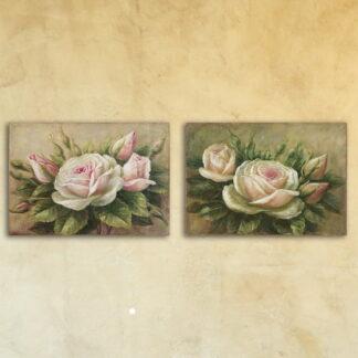 Стеклянная модульная картина «Бутоны роз»