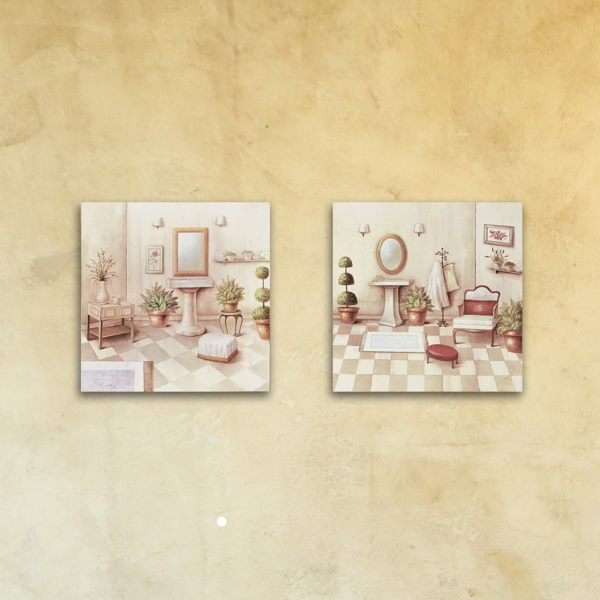 Модульная картина на стекле «Будуар»