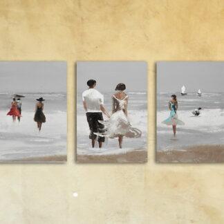 Модульная картина на стекле «Прибой»
