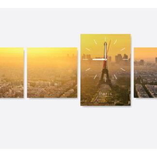 Модульная картина с часами «Paris-time»