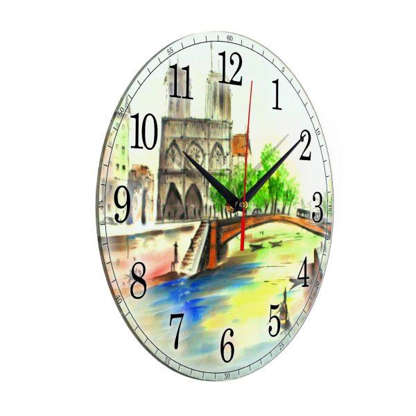 """Часы настенные """"Мост в весеннем Париже"""""""