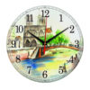Часы настенные мост в Париже