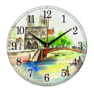 Часы настенные «Мост в весеннем Париже»