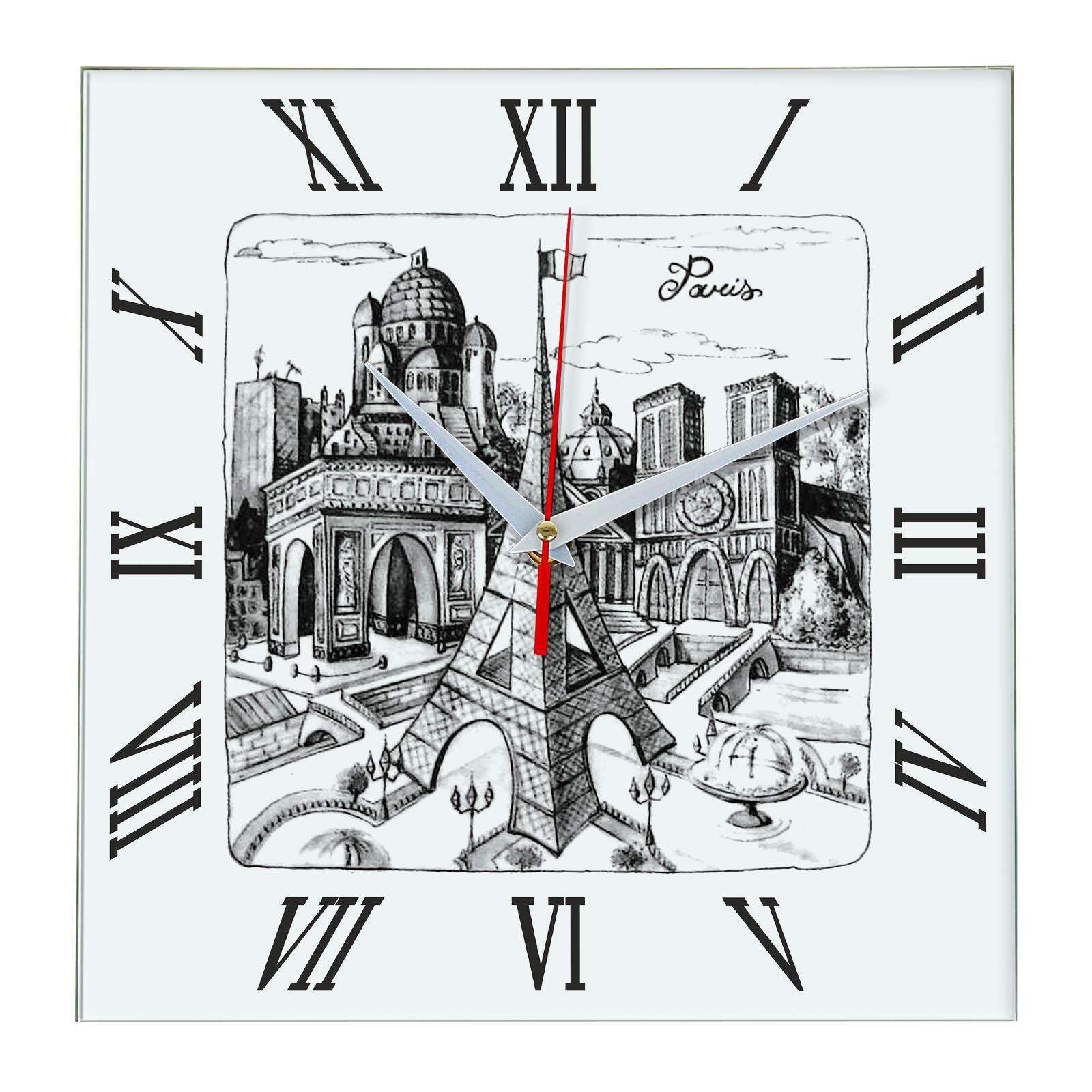 Часы настенные «Париж и его достопримечательности»
