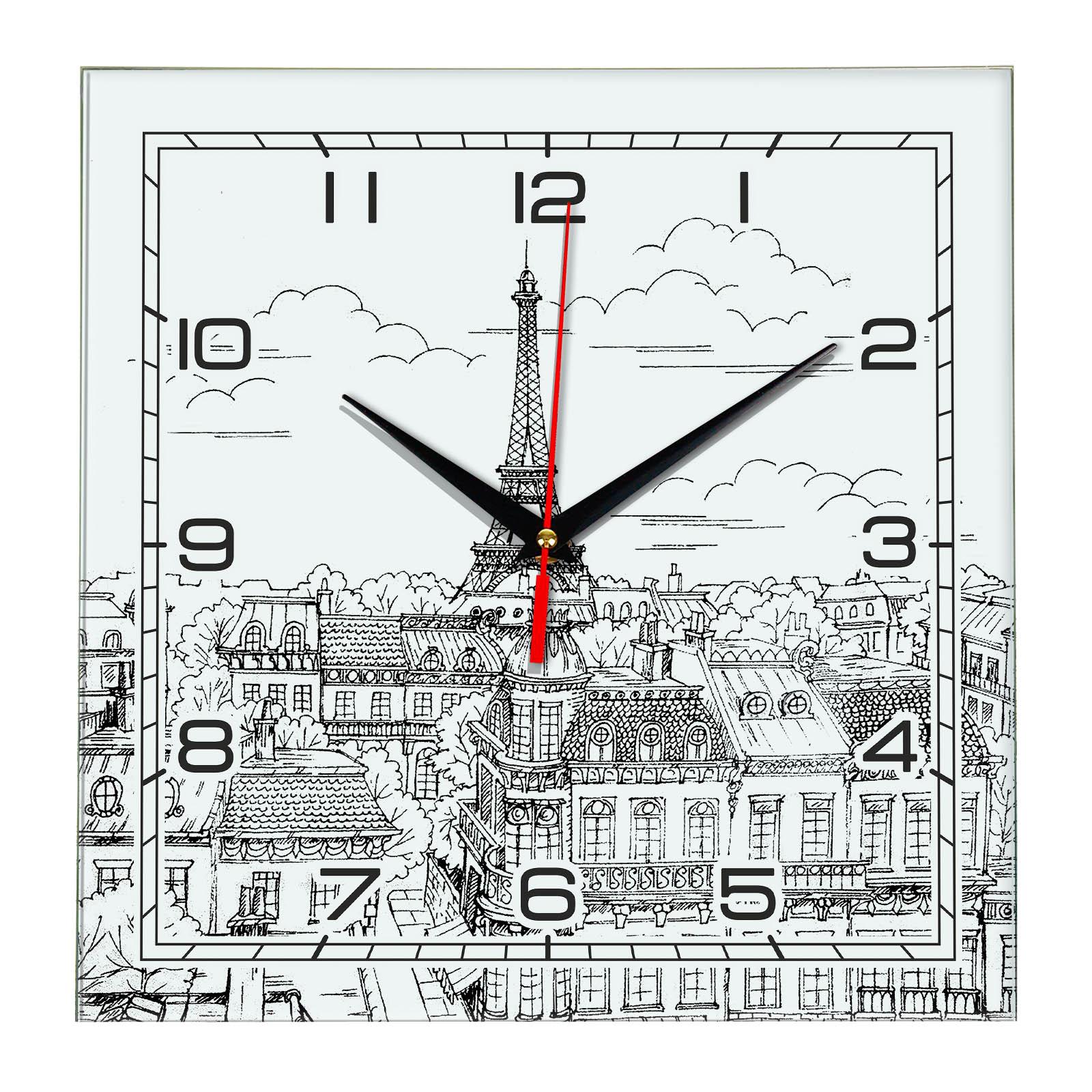Часы настенные «Черно- белый Париж»