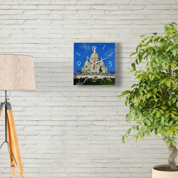 Часы настенные «Париж- прекрасный Храм Святого Сердца»
