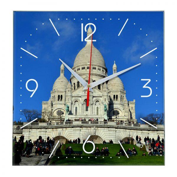 """Часы настенные """"Париж- прекрасный Храм Святого Сердца"""""""