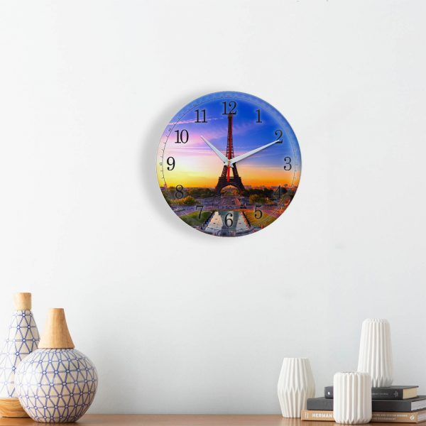 Часы настенные «Закат в Париже»