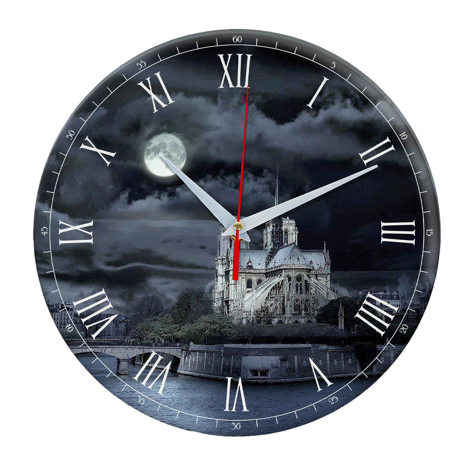 Часы настенные Темная ночь в Париже»
