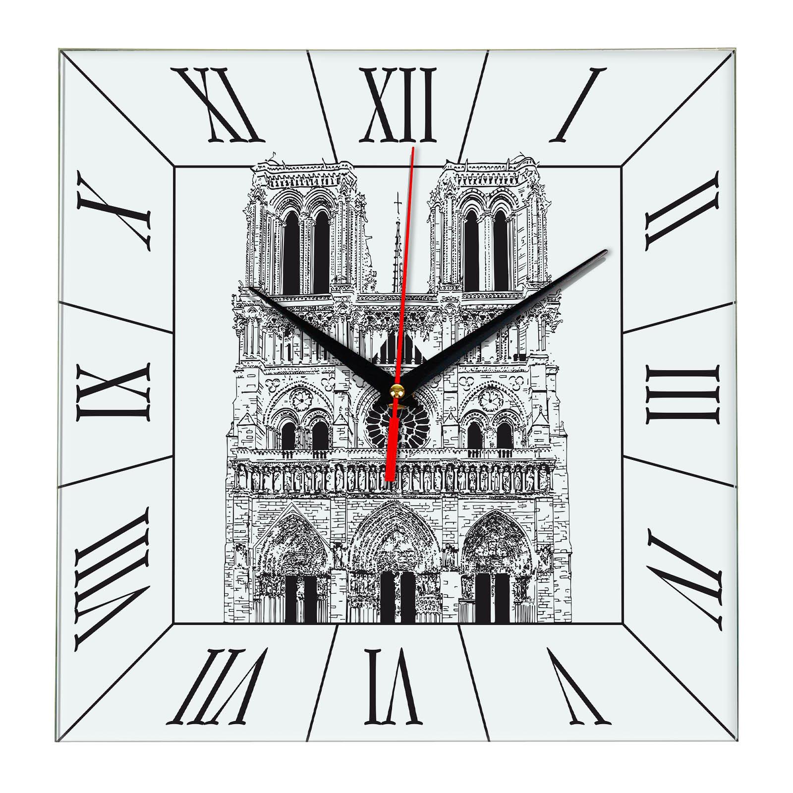 Часы настенные «Эскиз Нотер- Дам»