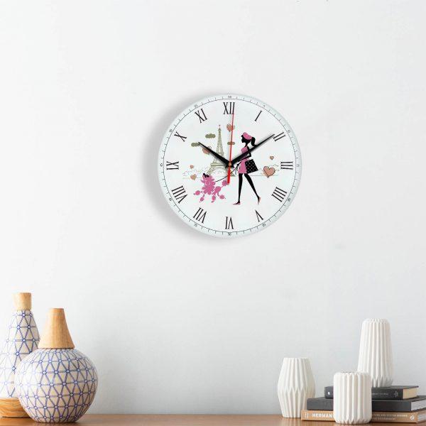 """Часы настенные """"Париж и флирт"""""""